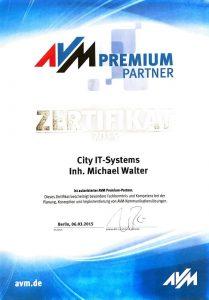 AVM Zertifikat