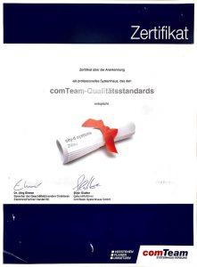 comTeam Zertifikat
